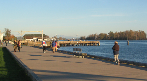 walking on the boardwalk in richmond bc
