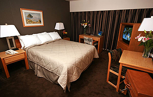 Guest room at the Comfort Inn.