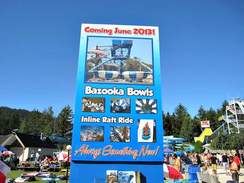 Cultus Lake Waterpark new exciting water rides