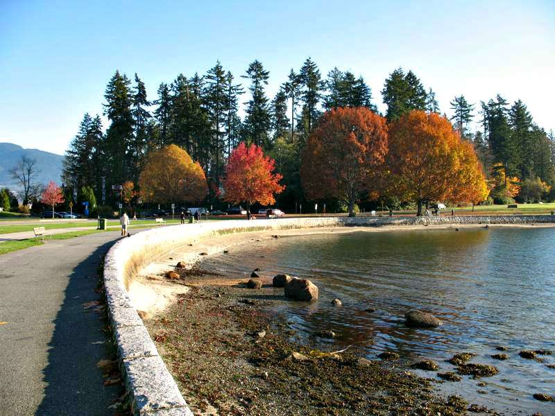 Seawall around Stanley Park in Vancouver BC