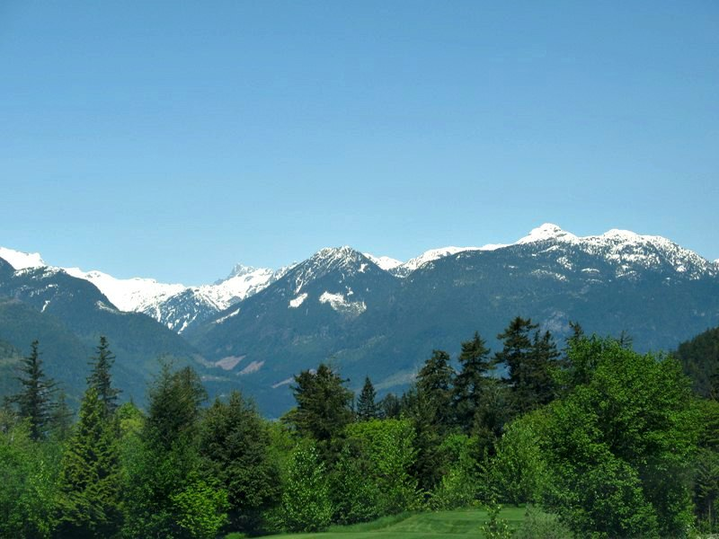 Beautiful Snow Topped Mountains in Whistler BC