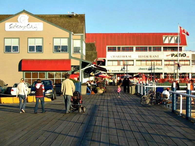 Steveston Docks stores and restaurants of Richmond BC