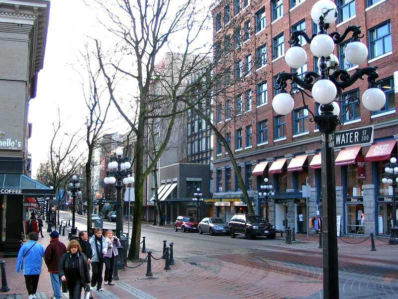 Streets and stores of Gastown Vancouver BC