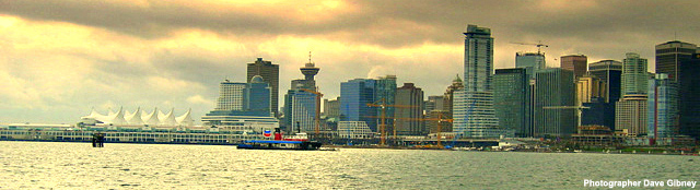 View of Vancouver and the Many Tourist attractions in the City