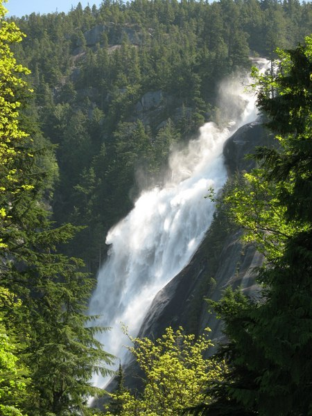 Shannon Waterfall near Whistler BC
