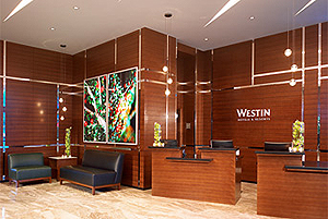 Westin Wall Centre Vancouver Airport lobby