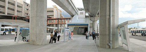 Bridgeport Station Bus Loop & Skytrain Station