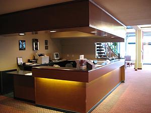 Front lobby of the Comfort Inn.