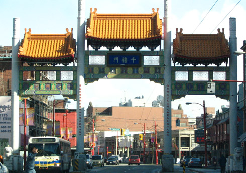 entrance to vancouver china town