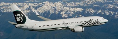Flight from LA on Alaska Airlines