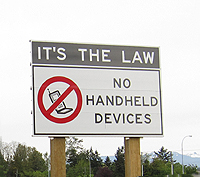 no handheld devices