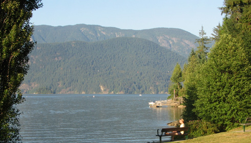 Relaxing view of cultus lake