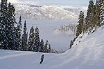 Me going down the cut in Whistler