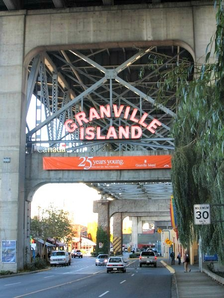 entrance to Granville Island