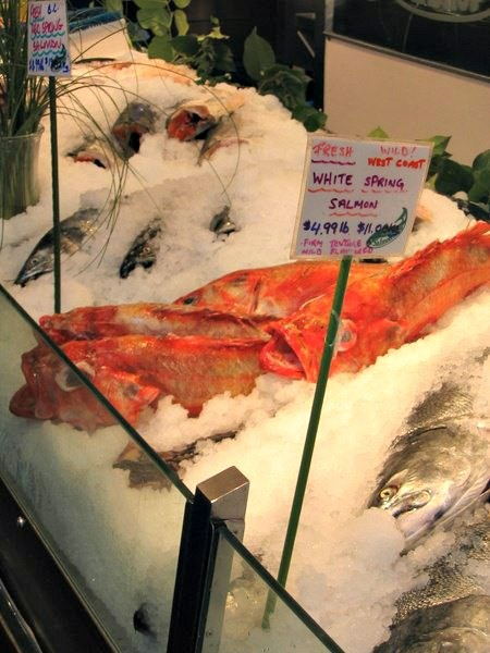 Fresh local fish on Granville Island