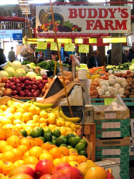 Fresh Fruits and Vegetables at Granville Island