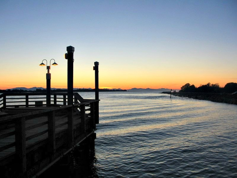 Beautiful Sunset on the water in Richmond BC