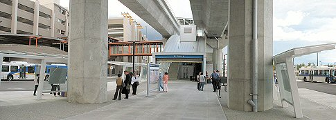 Bridgeport Station Bus Loop & Skytrain Station