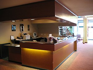 Front lobby of the Comfort Inn.