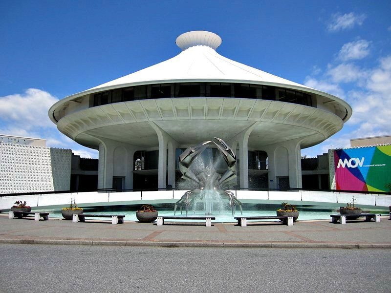 front of the H.R. MacMillan Space Centre