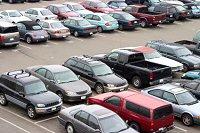 Parking lot at VYR airport